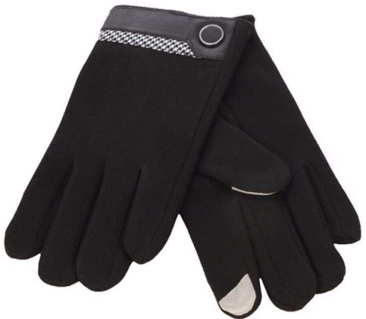 iCasemore Gloves (iCM_but-blk) - кашемировые перчатки (Black) перчатки для сенсорных экранов icasemore gloves icm clasp blk black