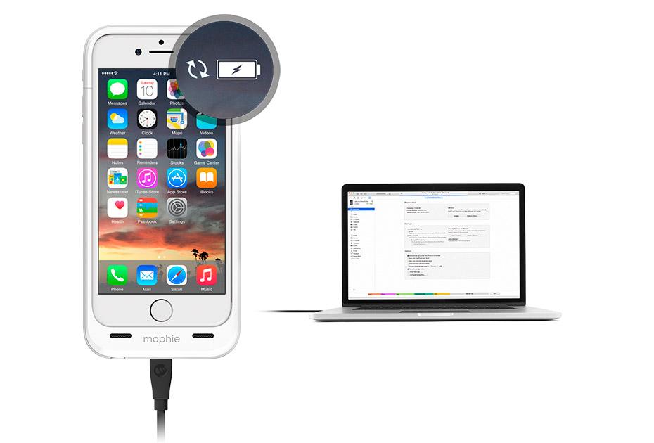 Mophie Juice Pack Air - чехол-аккумулятор для iPhone 6 (Black)