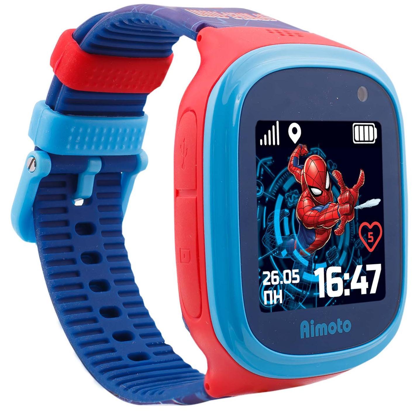 "Детские часы Кнопка Жизни Aimoto Marvel ""Человек-Паук"" (Blue/Red)"