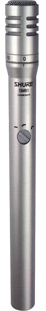 Shure SM81 (16926) - конденсаторный вокально-инструментальный микрофон (Silver)