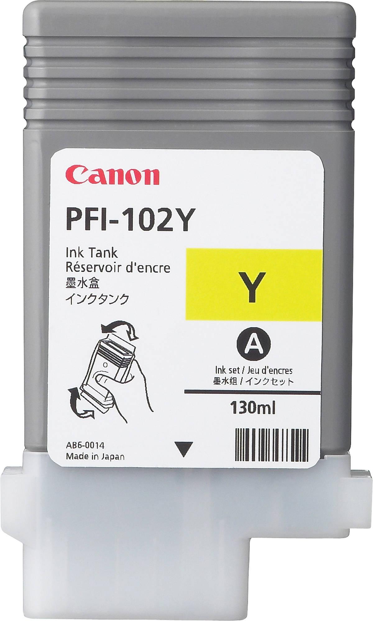Canon PFI-102Y (0898B001) - картридж для принтеров Canon iPF500/600/610/700/710 (Yellow)