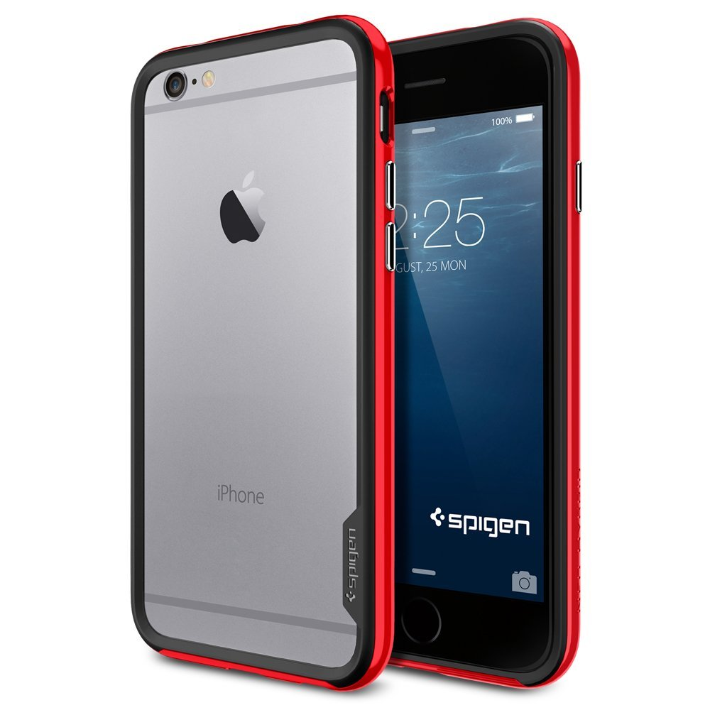 Купить Spigen Neo Hybrid EX (SGP11025) - бампер для iPhone 6/6S (Red)