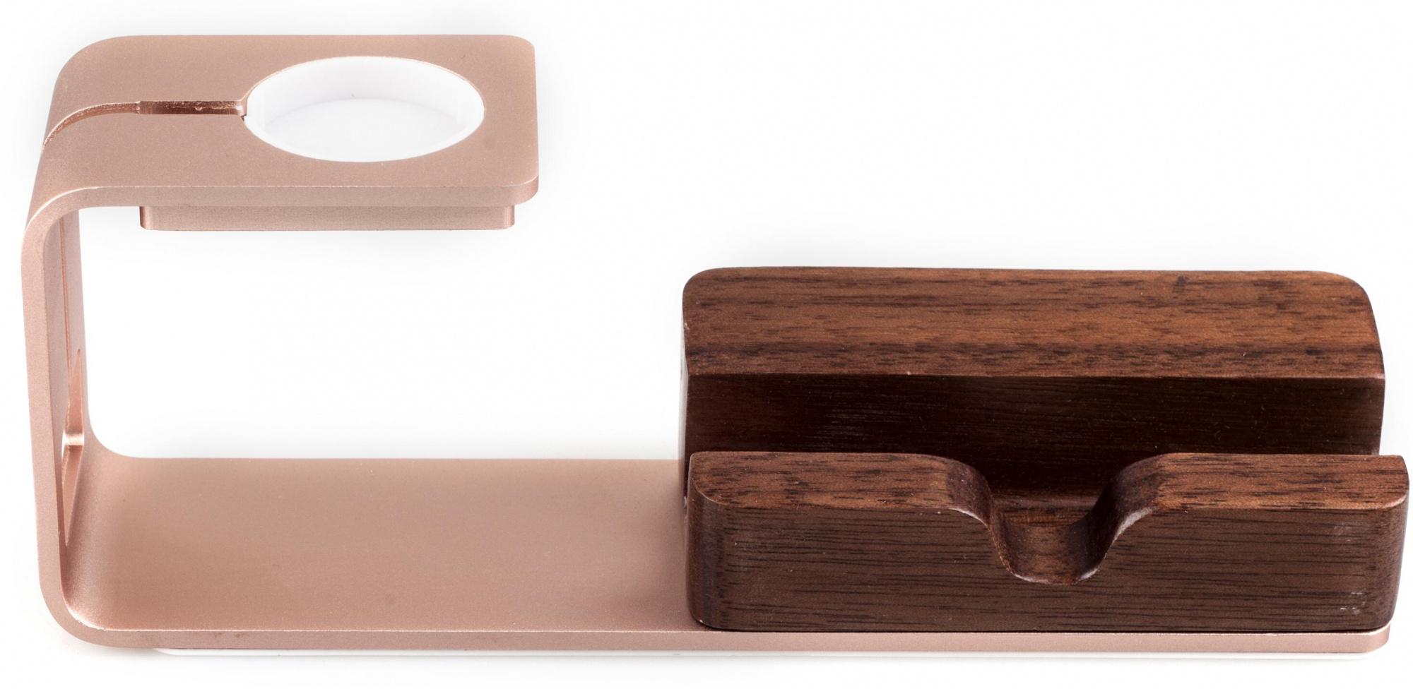Seenda Aluminum+WoodДок-станции и держатели для iPhone и iPad<br>Подставка<br>