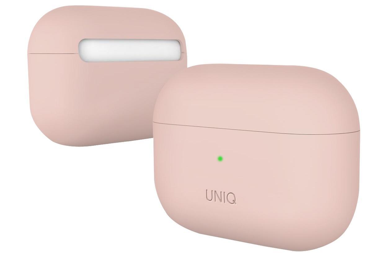 Чехол Uniq Lino Hybrid Liquid Silicon для AirPods Pro (Blush Pink) фото