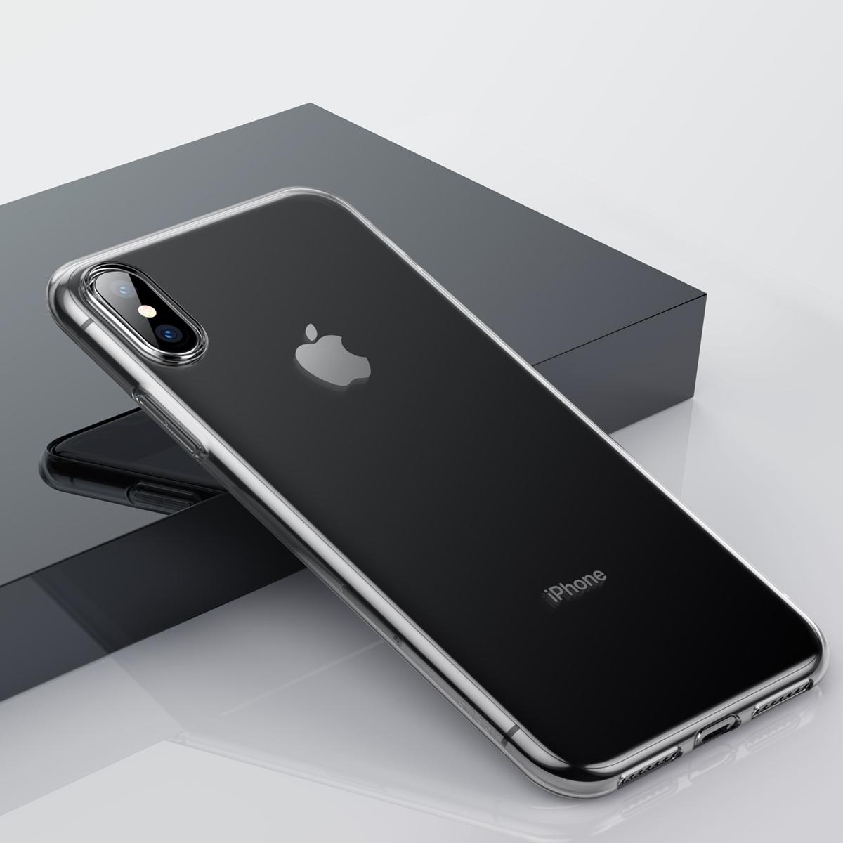 Чехол Baseus Simplicity Series (ARAPIPH65-B02) для iPhone Xs Max (Transparent)
