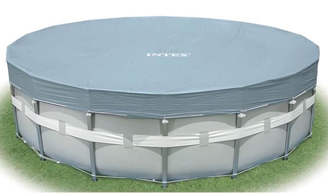 Intex Cover (549 см) - круглый чехол для бассейнов (Grey)