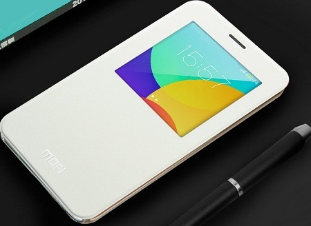 Mofi Genuine Leather Series Slim Case Flip Cover - чехол для Meizu MX4 Pro (White)