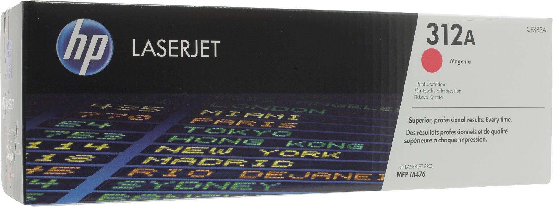 312A картридж hp cf382a 312a для color laserjet m475 m476 желтый