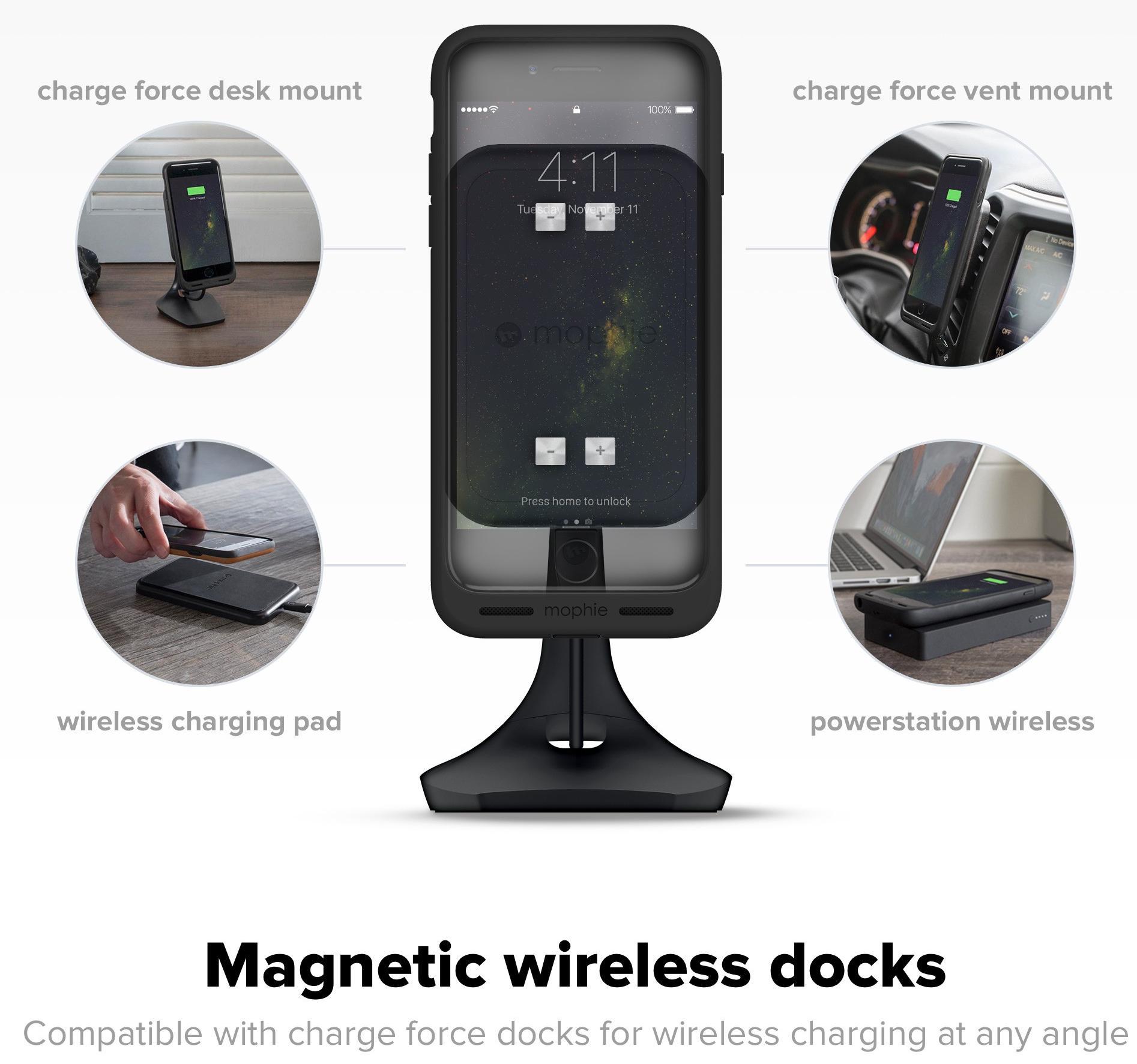Чехол-накладка Mophie Charge Force (4019) для iPhone 7 (Black)