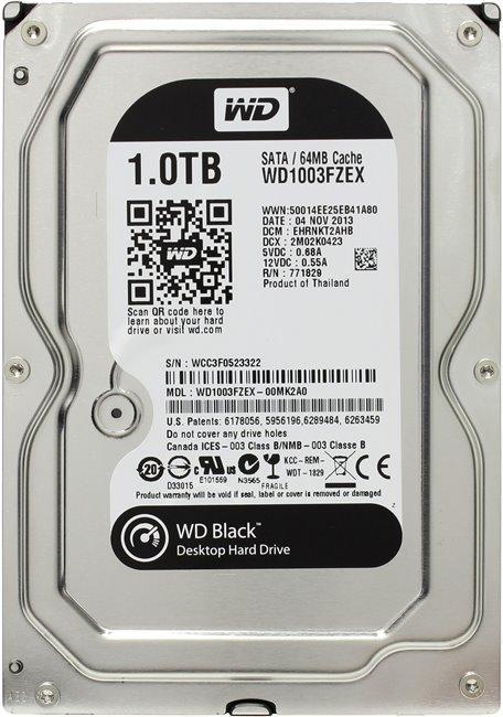 """Western Digital Black HDD 3.5"""" 1Tb (WD1003FZEX) - жесткий диск"""
