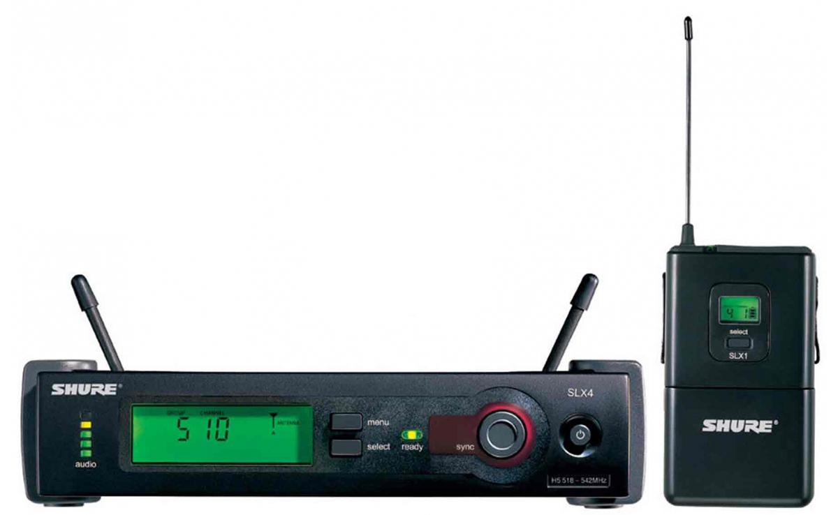 Shure SLX14E L4E- профессиональная радиосистема с портативным поясным передатчиком SLX1 (Black) A041838