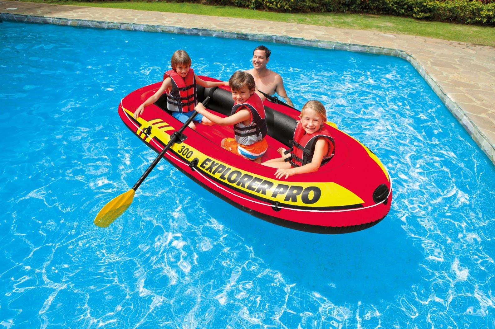 лодка intex explorer 300 с веслами
