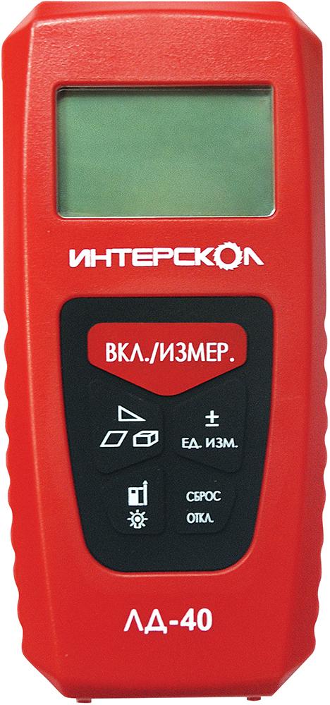 Интерскол ЛД-40 (142.1.0.00) - дальномер лазерный (Red)