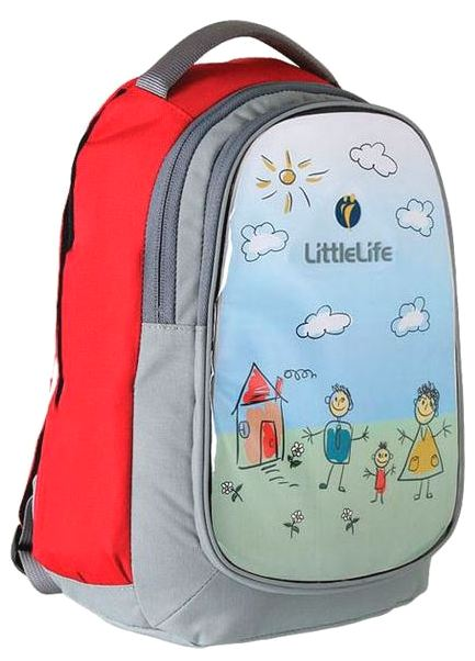 LittleLife Doodle (L10730) - рюкзак с альбомом (Red/Grey)
