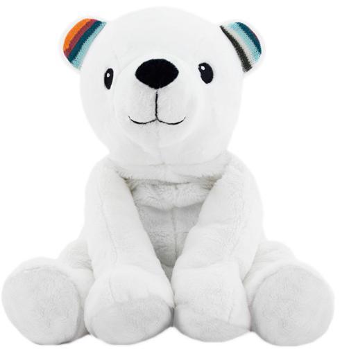 Плюшевая игрушка-комфортер Zazu Полярный мишка Пол (ZA-PAUL-01).