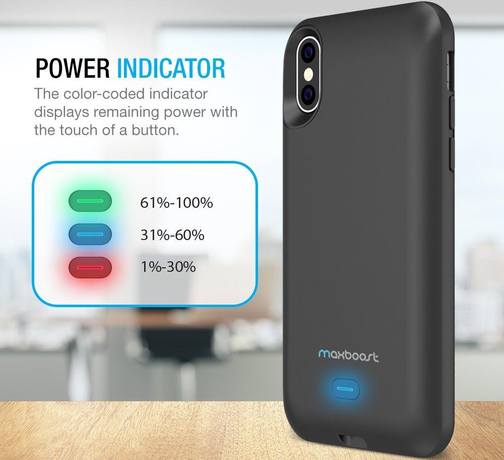 Чехол-аккумулятор Maxboost Battery Case 3000mAh (B078TMQ84P) для iPhone X/Xs (Black)
