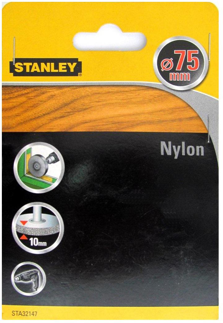 Stanley D 75 мм (32147-XJ) - щетка дисковая нейлоновая для дрели  кордщетка для дрели d6 радиальная нейлоновая d 75 мм bosch стандарт