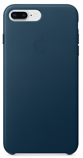 Чехол-накладка Apple Leather Case MQHR2ZM/A для iPhone 7 Plus/8 Plus (Cosmos Blue)