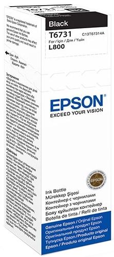 Epson T6731 (C13T67314A) - чернила для принтеров Epson L1800, L800 (Black)
