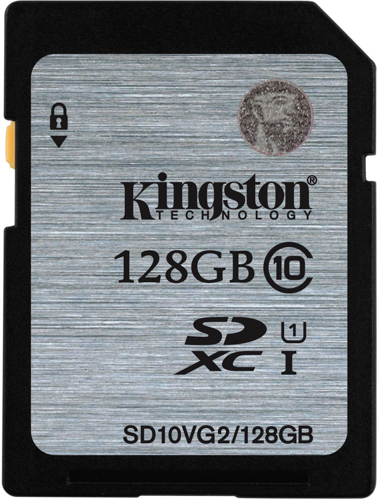 Kingston SDXC 128Gb Class 10 U1 UHS-I (SD10VG2/128GB) - карта памяти