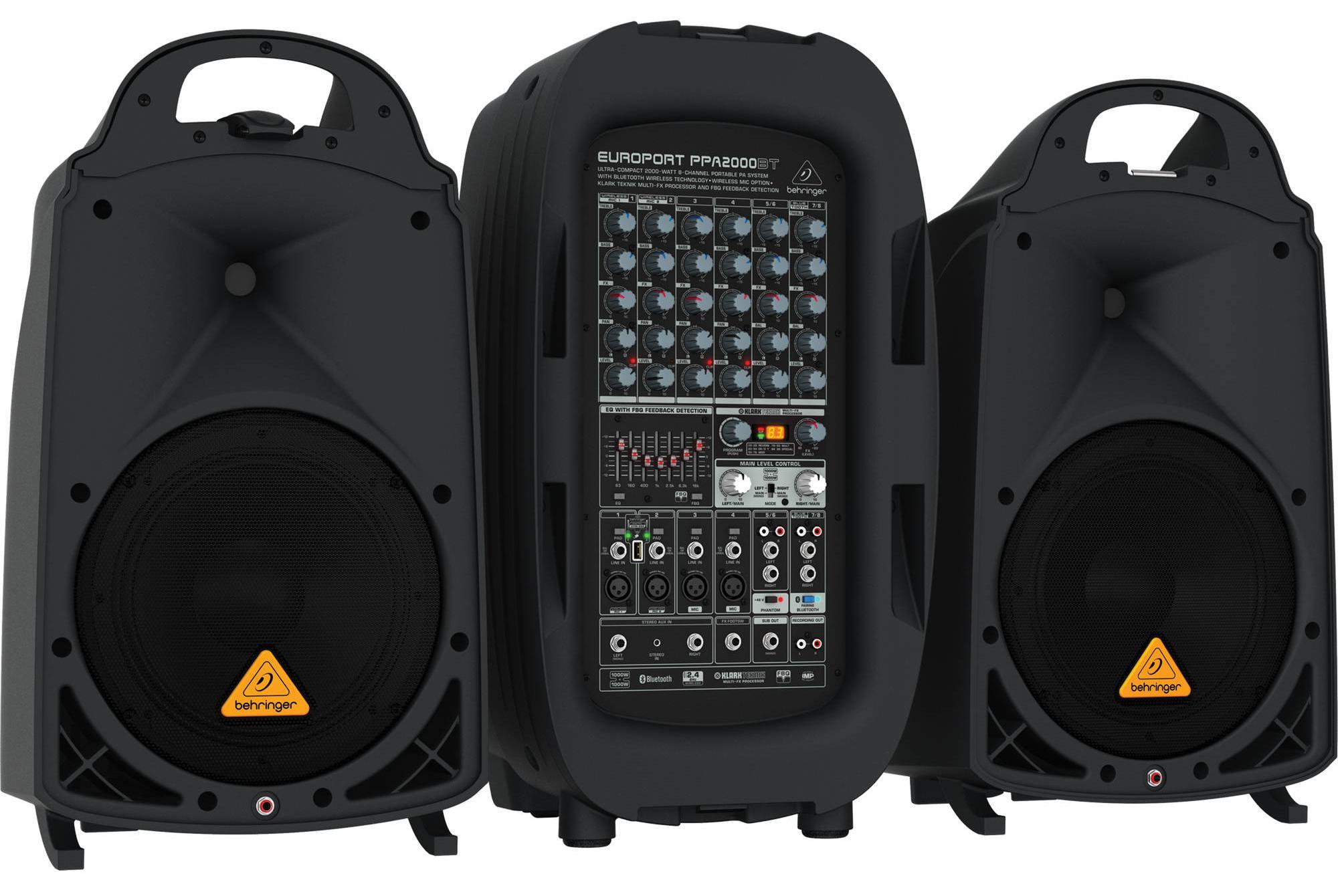 Behringer PPA2000BT (A051760) - переносная система звукоусиления (Black) установка поверочная переносная упсж 3пм стоимость