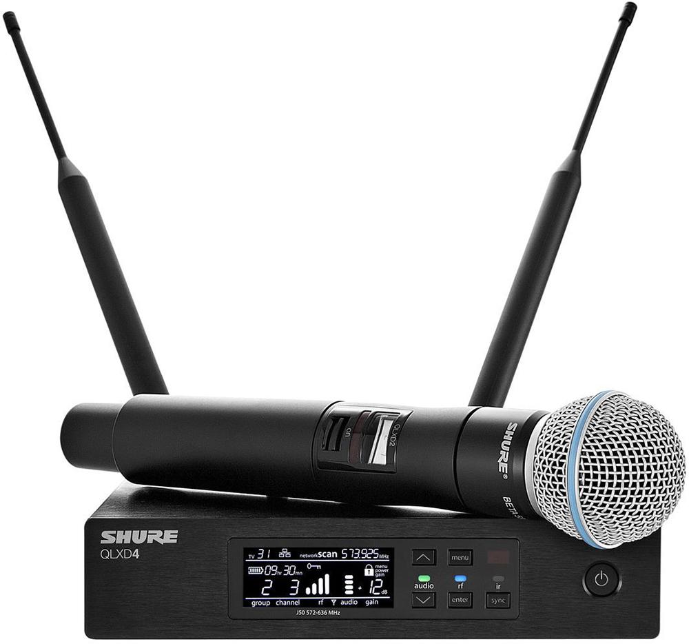 Shure QLXD24E/B58 K51 - вокальная радиосистема с ручным передатчиком (Black) A051387