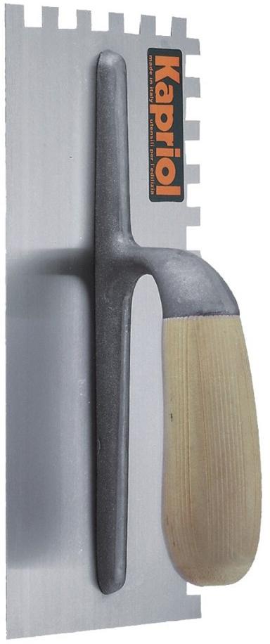 Kapriol зуб 12 мм (23023) - зубчатая гладилка с деревянной ручкой