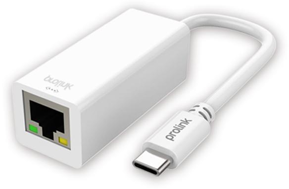 Prolink MP402 - адаптер USB-C - RJ-45 (White)