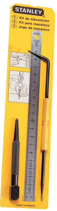 Stanley 0-90-500 - набор из 3-х предметов для разметки  набор из 20 инструментов stanley zipper wallet 1 90 597