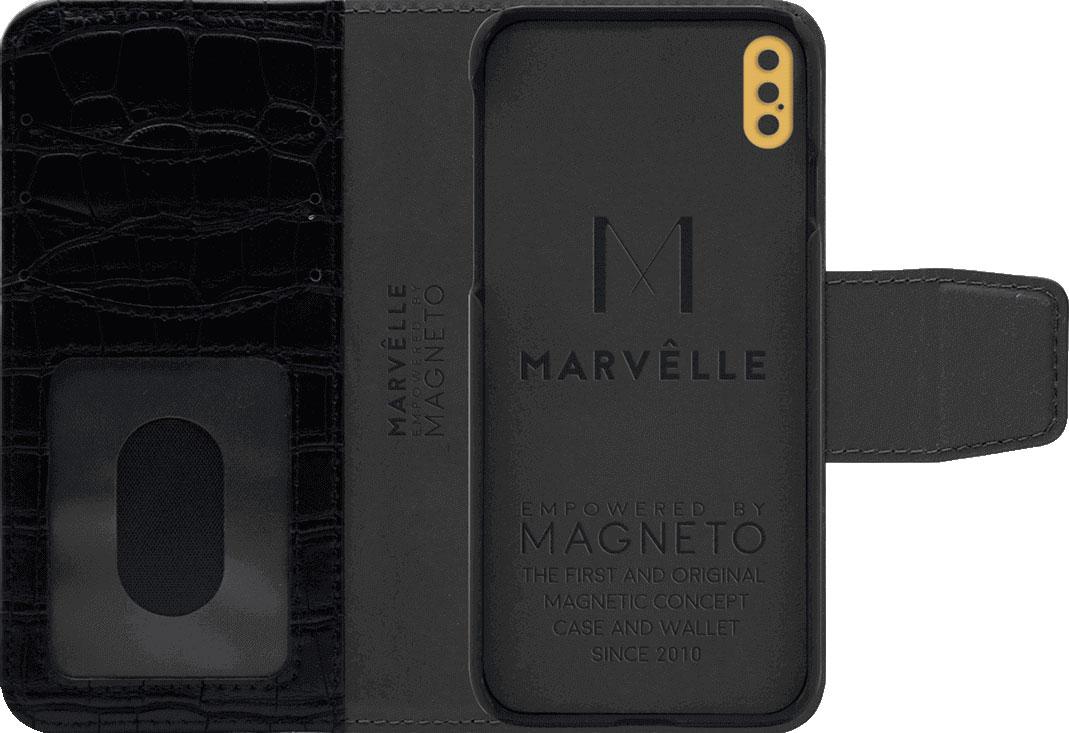 Чехол Marvelle N°301 для iPhone X/XS (Ballroom Black Croco)