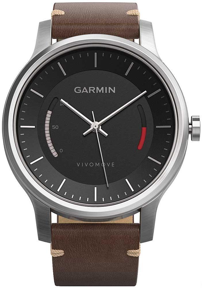 Спортивные часы Garmin Vivomove Premium 010-01597-20 (Steel/Brown)