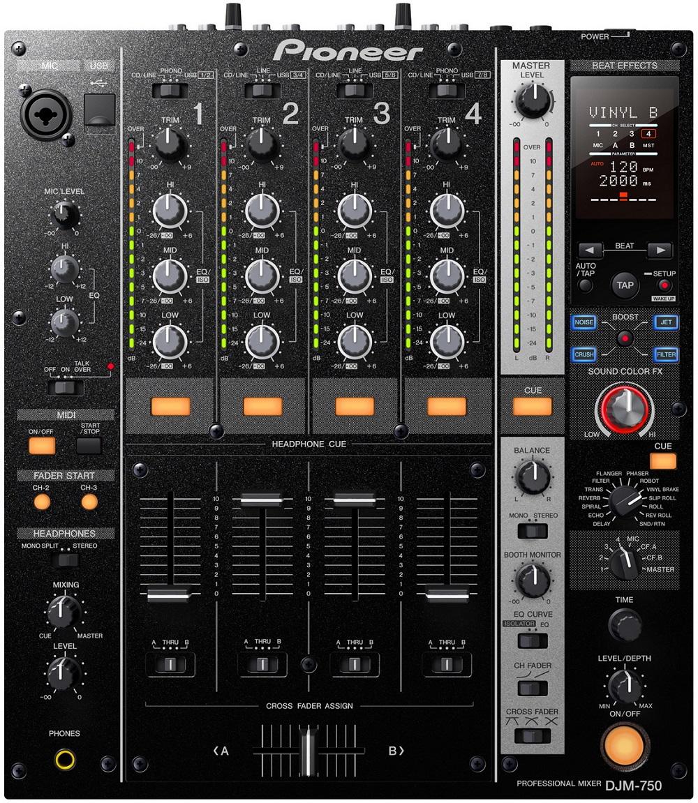 Pioneer DJM-750-K - DJ-микшер (Black)