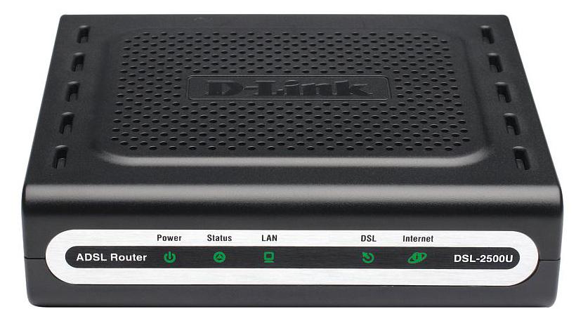 Asus D-Link DSL-2500U/BA/D4C - маршрутизатор ADSL2+ (Black)