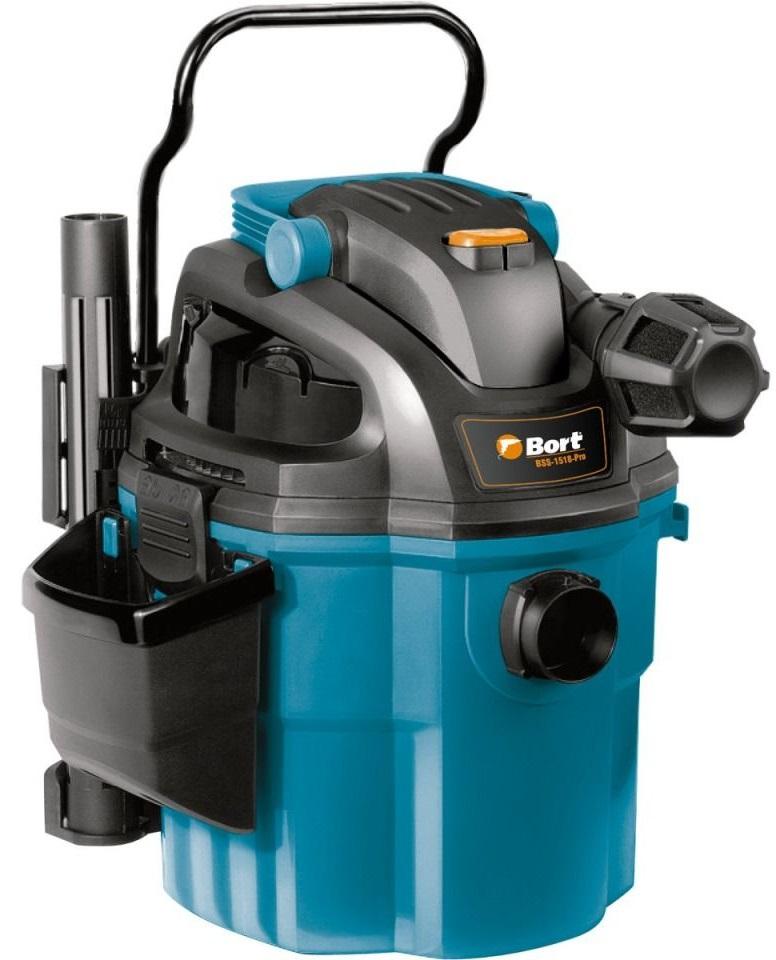 Bort BSS-1518-Pro (98291810) - пылесос промышленный (Blue/Black)Строительные пылесосы<br>Пылесос промышленный<br>