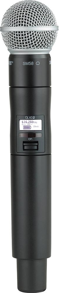 Shure QLXD2/SM58 K51 - ручной передатчик (Black) A051396