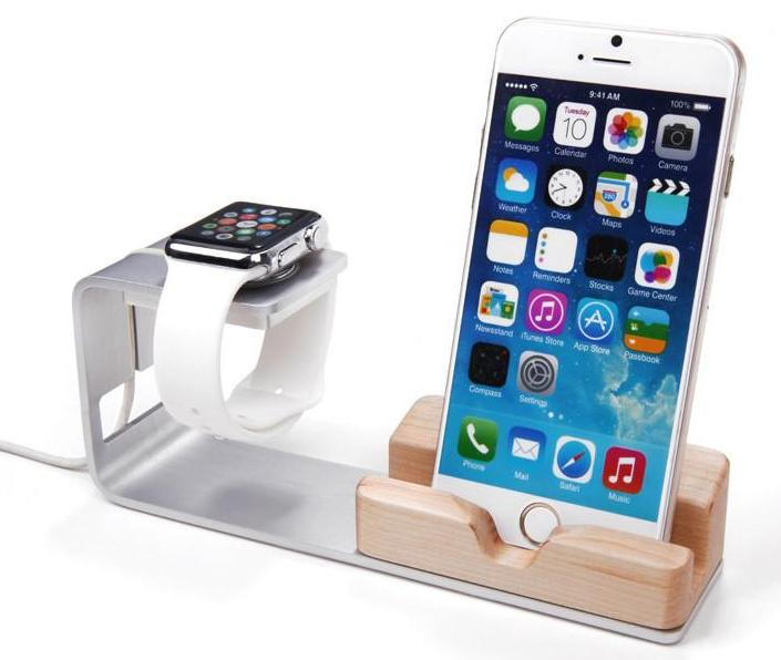 Aluminum+WoodДок-станции и держатели для iPhone и iPad<br>Подставка<br>