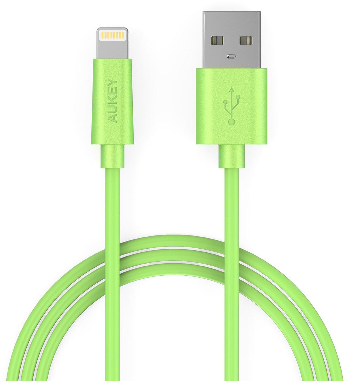 Aukey CB-D20 - кабель-переходник Lightning to USB-A (Green) dali opticon 5 walnut