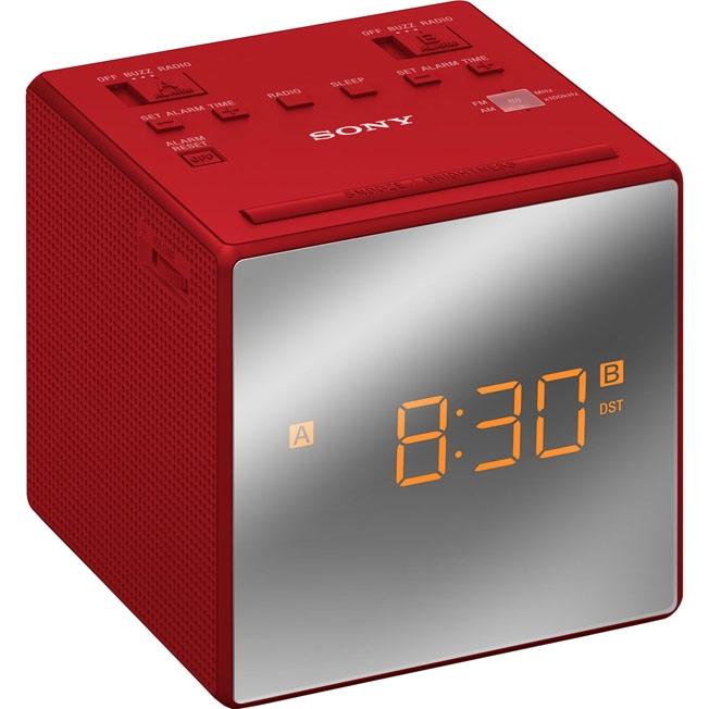 Sony ICF-C1T - радиобудильник (Red)Гаджеты для умного дома<br>Радиобудильник<br>