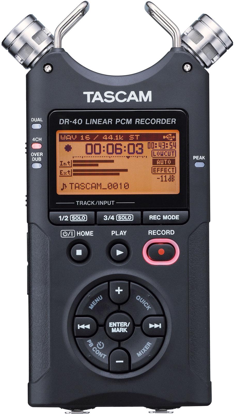 Tascam DR-40 (A035955) - портативный рекордер (Black)