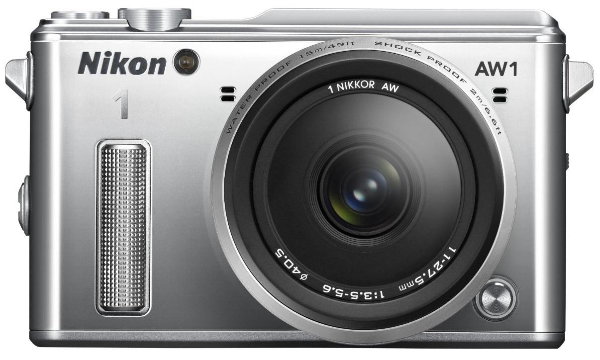 Фотоаппарат Nikon 1 AW1 Kit (Nikon AW1 Body Silver + 1 Nikkor AW 11–27.5mm f/3.5–5.6 Silver)