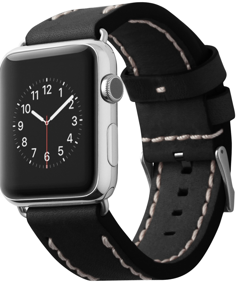 Cozistyle Leather Band (CLB010) - сменный ремешок для Apple Watch 42mm (Black)