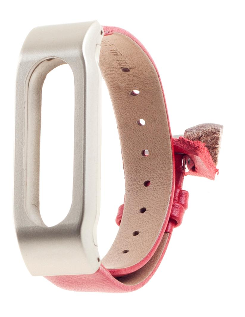 Xiaomi Leather Wristband - сменный ремешок для Xiaomi Mi Band (Gold/Red)