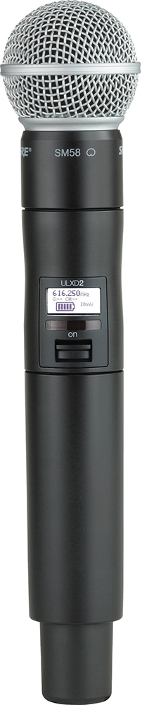 Shure ULXD2/SM58 K51 - ручной передатчик (Black) A042120
