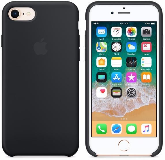 Чехол Apple Silicone Case (MQGK2ZM/A) для Apple iPhone 7/8 (Black)