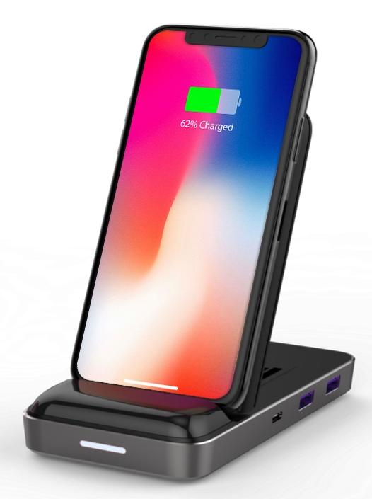 Qi Wireless Charger & USB-C Hub
