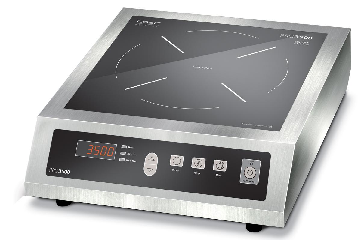 Caso Pro 3500 - настольная индукционная плитка (Silver/Black) тостер caso t4