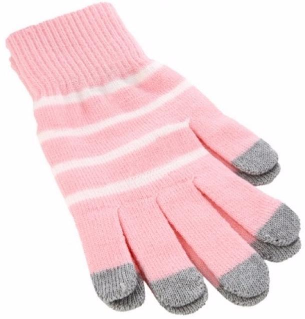 iCasemore Gloves (iCM_WhS-pnk) - трикотажные перчатки (Pink) icasemore gloves icm smp blk кашемировые перчатки black