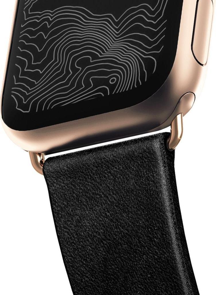 Ремешок Nomad Modern Strap (NM1A31SM00) для Apple Watch Series 2/3/4 38/40 mm (Black/Gold)