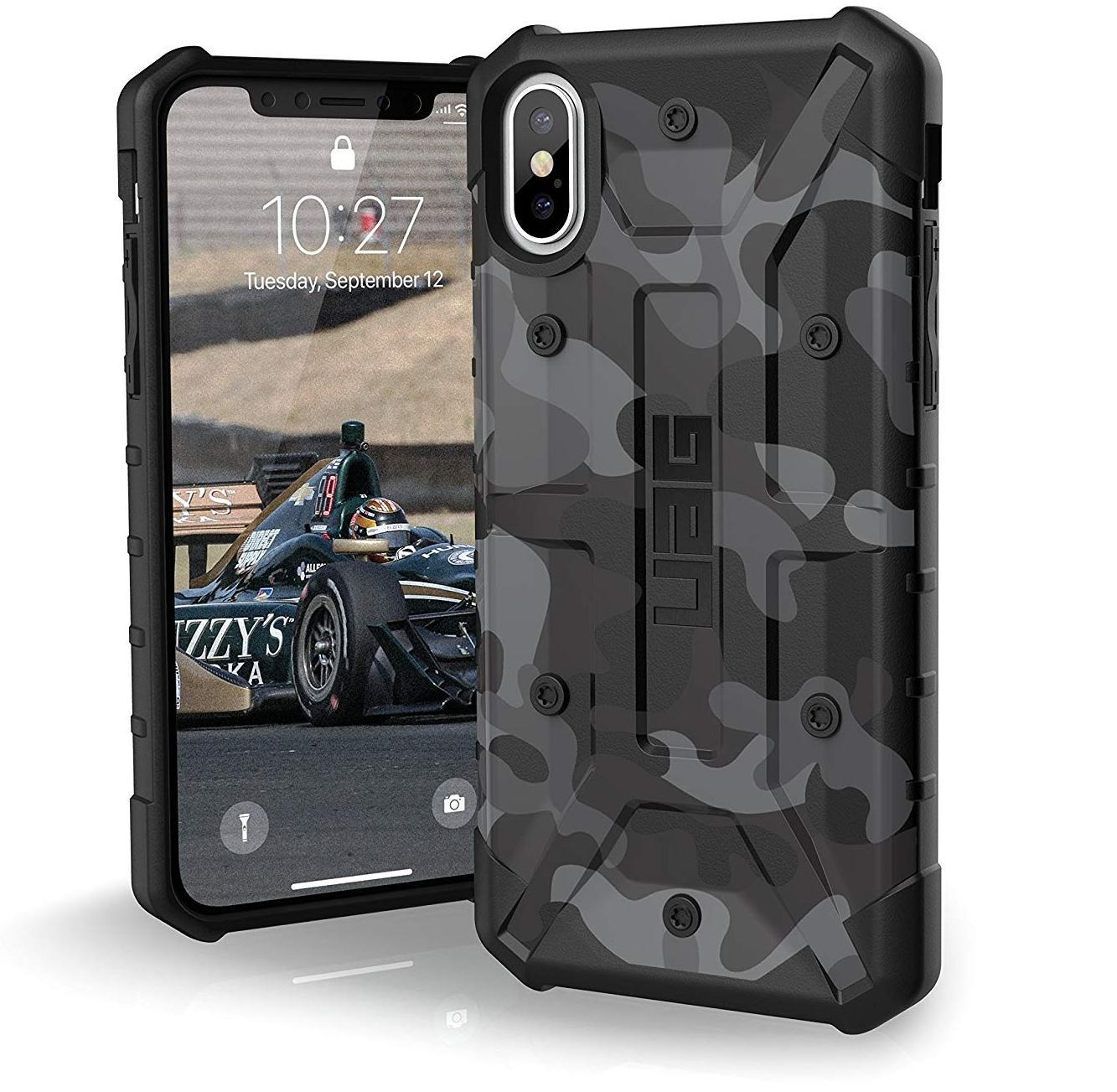 Чехол Urban Armor Gear Pathfinder Camo Series для Apple iPhone X (Midnight)