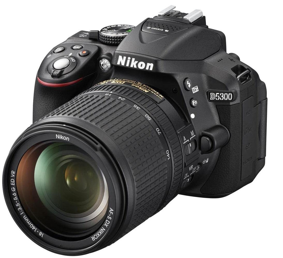 Фотоаппарат Nikon D5300 Kit (D5300 Body Black + 18-140 VR Black)